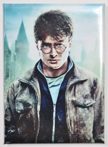 harry potter fridge magnet deathly hollows wizard muggle