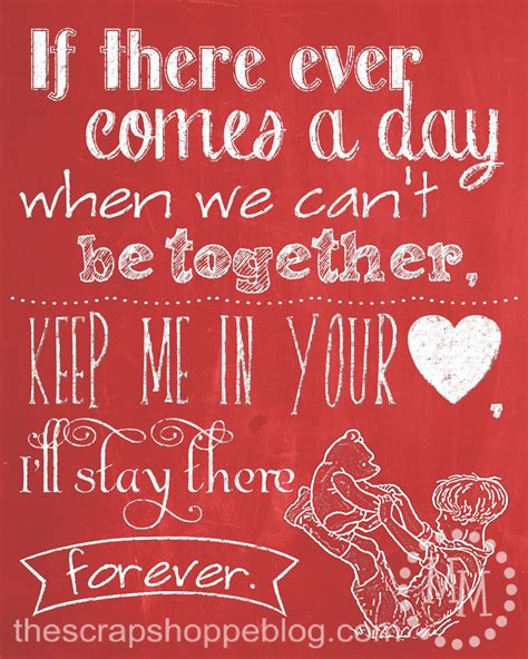 valentines day quote winnie the pooh chalkboard quote the scrap shoppe