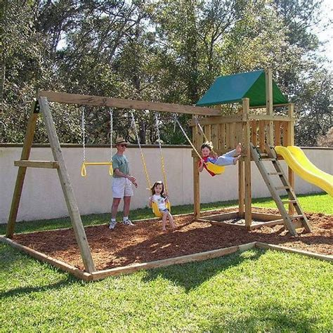 backyard playset kits the 25 best wooden swing set kits ideas on pinterest