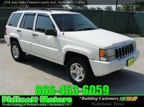 1998 White Jeep White 1998 Jeep Grand Laredo 4x4 Camel