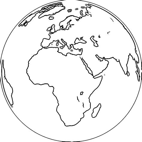 coloring page the earth earth globe coloring page wecoloringpage 067 african
