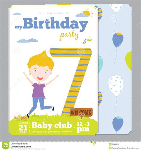 card templates for children birthday invitation card template with stock