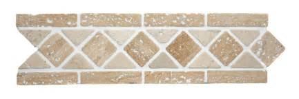 Tiles border tiles dark beige natural stone diamond geometric border
