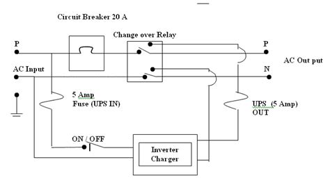 ups wiring diagram circuit ups system schematic