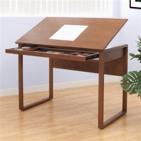 Wood Drafting Table Studio Designs Ponderosa 24 Quot X 42 Quot Wood Drawing Table 13285