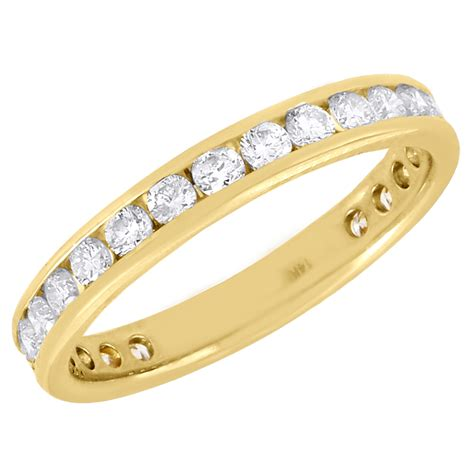 14k yellow gold channel set wedding engagement