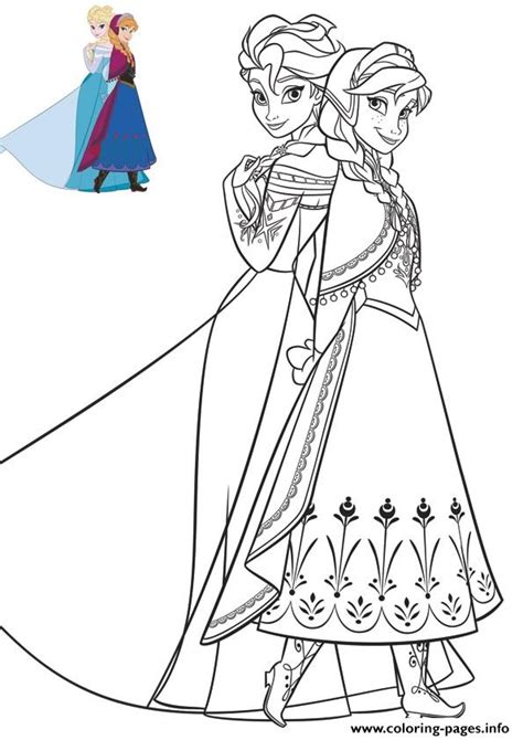 elsa dress coloring page anna and elsa beautiful dresses frozen coloring pages
