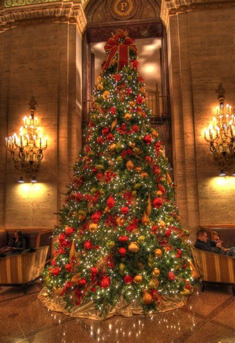 palmer house chicago il christmas tree merry hoho pinterest
