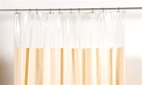 plastic window curtains vinyl window shower curtain groupon goods