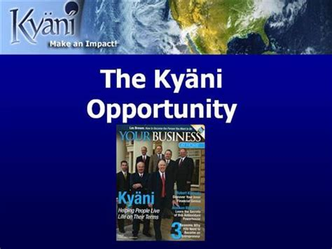 kyani business cards template why now is the time to join kyani authorstream