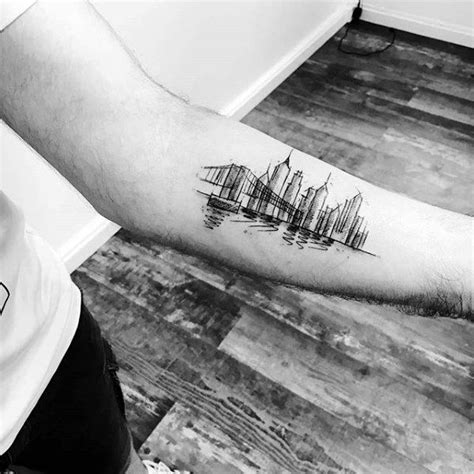 tattoo nyc skyline 60 new york skyline tattoo designs for men big apple ink