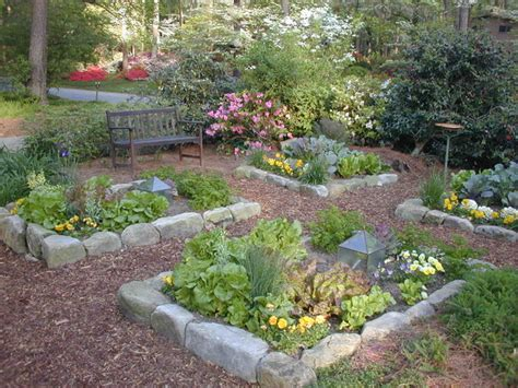 Rock Vegetable Garden Pretty Organic Vegetable Garden In Front Yard Traditional Landscape Atlanta By Home