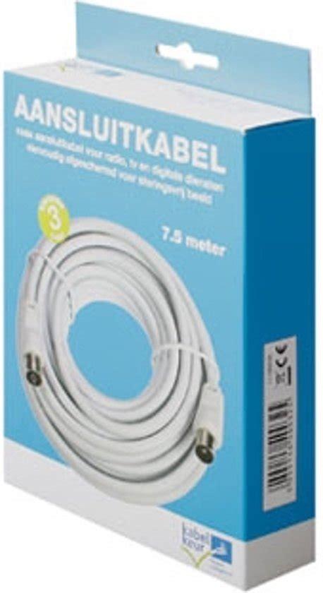 tekiro meteran 7 5 meter bol technetix coax kabel wit 7 5 meter