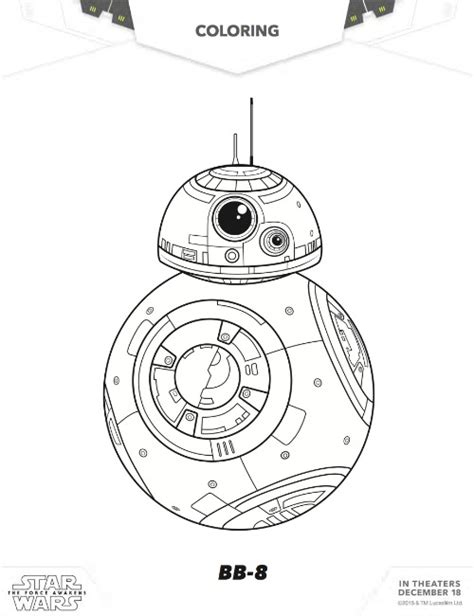 coloring pages wars bb8 the awakens wars free coloring pages for