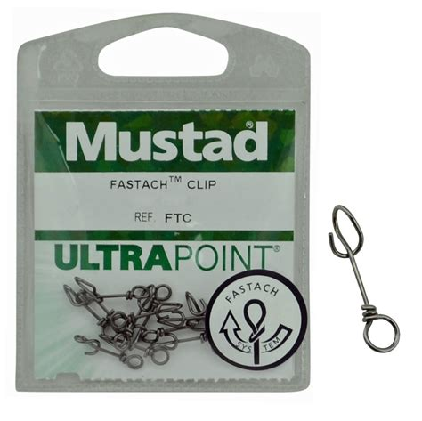 Mustad Fastach Clip Size 1 2 28kg With Bearing Swivel Limited E mustad ultrapoint fastach clip tackle or lure clip
