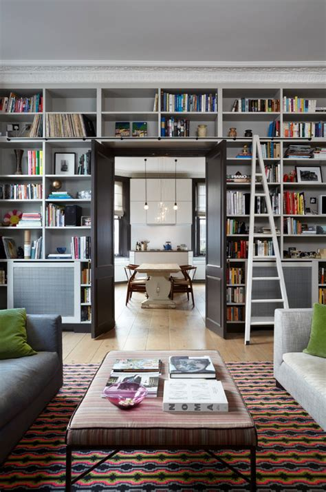 living room library library bookcases with ladders tidbits twine