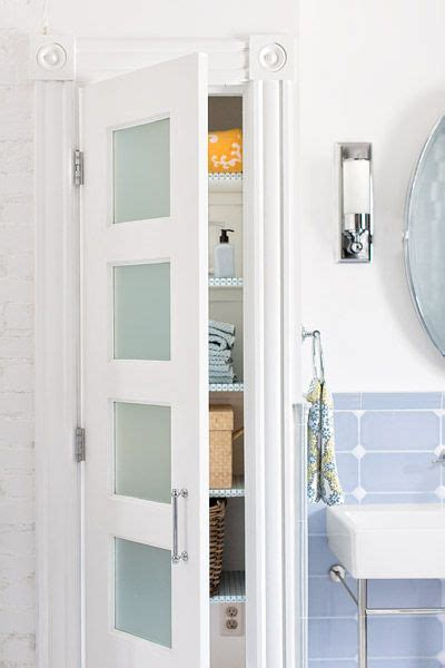 bathroom linen cabinet with glass doors pinterest the world s catalog of ideas