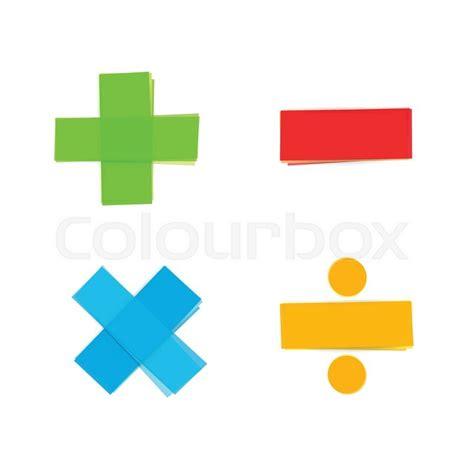 Colourful Basic Clip basic colorful mathematical symbols plus minus multiply