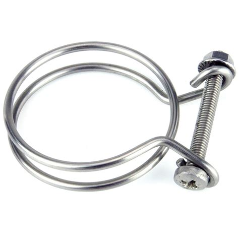 hose wire stainless steel wire hose clip 52mm car builder