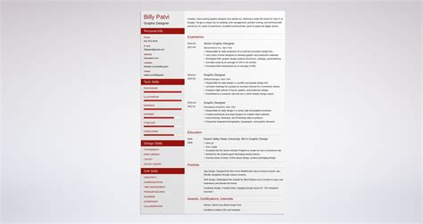 Graphic Designer Resume by Graphic Design Resume Sle Guide 20 Exles