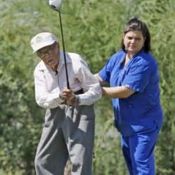 why do men want to swing 104 year old golfer returns to course never say always