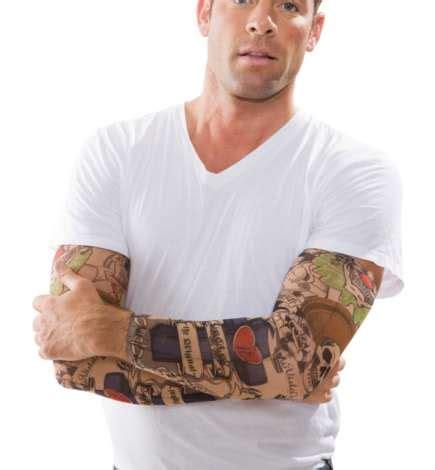 tattoo arm karneval tattoo arm bunt online kaufen buttinette karneval shop