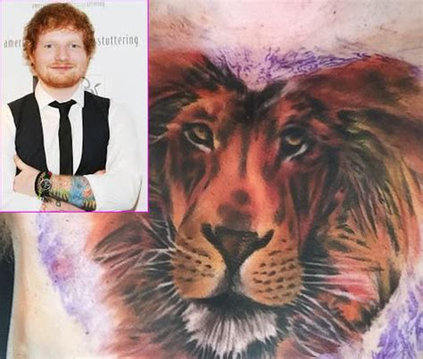 ed sheeran new tattoo on his chest ed sheeran tattoos meanings a complete tat guide
