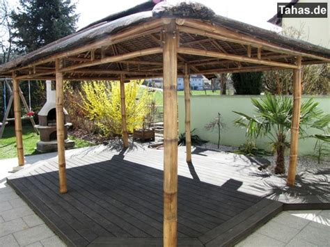 pavillon auf terrasse offener bambus pavillon f 252 r garten terrasse tahas 174