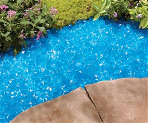 blue glow garden stones from collections etc