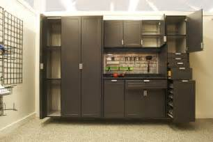Wood Storage Cabinet With Locking Doors Space Solutions Garage Archives Space Solutions