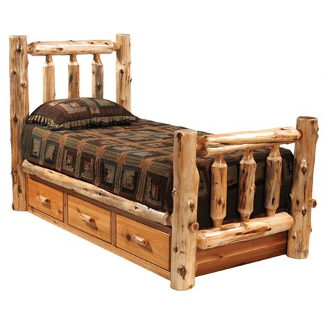 King Bed Drawers Underneath rustic beds king size cedar traditional log bed with