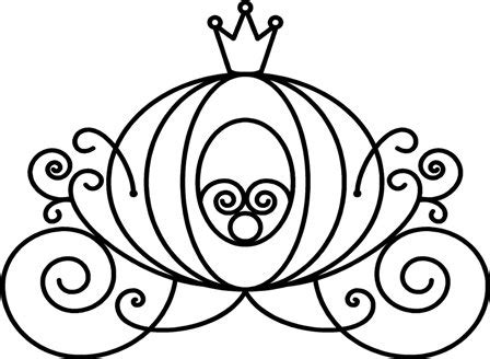 Outline Of A Carriage by Cinderella Carriage Clipart Cliparts Co