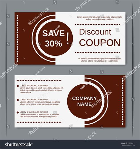 coupon card template discount coupon gift voucher gift certificate stock vector