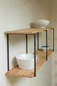 reclaimed recycled and beautiful floating shelves by