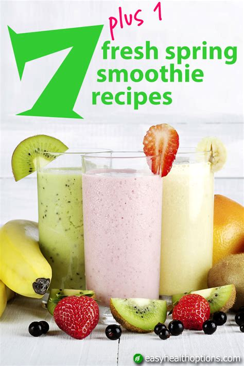 7 Smoothie Recipes by 7 Plus 1 Fresh Smoothie Recipes Easy Health