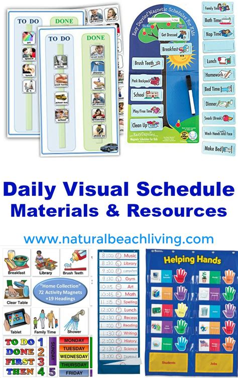 printable daily schedule for autistic child home visual schedule printables for morning and night