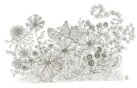 Drawn Flower Flower Garden Pencil And In Color Drawn How To Draw A Garden With Flowers