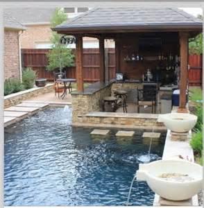 Backyard Pool Bar Small Pool And Bar For A Small Yard Thornton Creek
