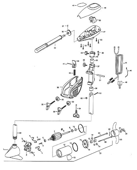 minn kota trolling motor parts diagram minn kota spider 48 parts 1999 from fish307