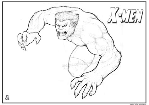 x men free printable coloring pages 12