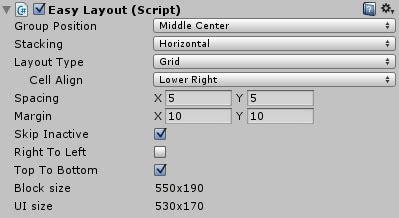 unity grid layout group script easylayout