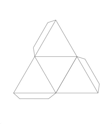 How To Make A Triangular Pyramid Out Of Paper - pyramid box template 15 free sle exle format