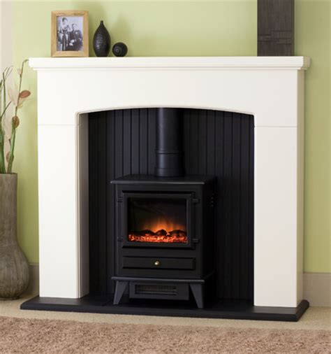 National Fireplace by Adam Denbury Electric Stove Fireplace Suite