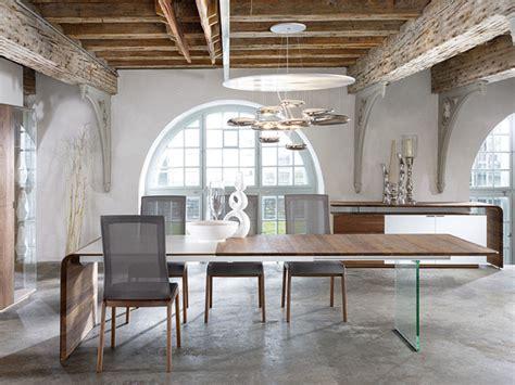 mesas de comedor de cristal de diseno mesa de comedor o despacho dise 241 o moderno con pared de