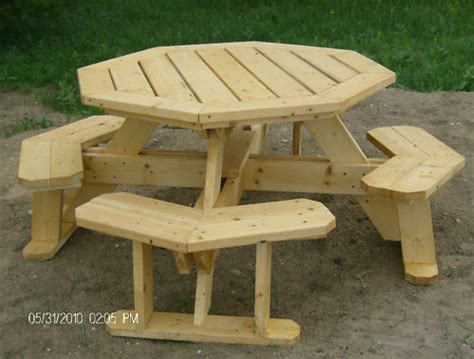 octagon picnic table plans easy   ebay