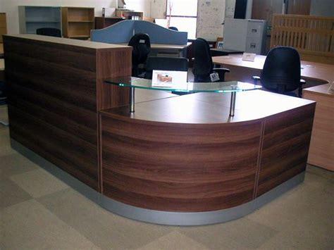 second corner desk second walnut reception desk new office desk