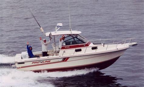 proline diesel boats sale 1990 pro line 250 walk around diesel power boat for sale