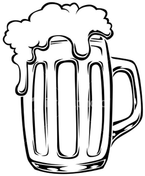cartoon beer black and white beer drawing clipart best