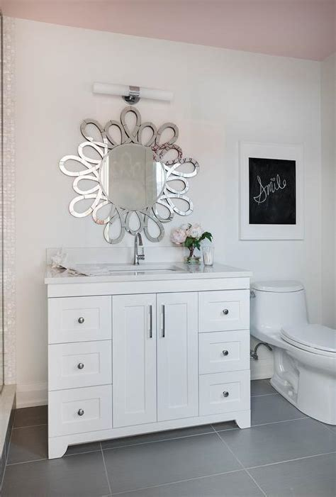 kids bathroom mirror white sunburst mirror design ideas