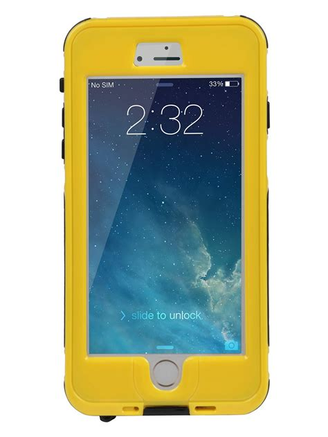 rugged shock resistant hybrid full cover case  iphone   yellow walmartcom